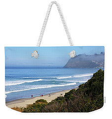 Misty Beach Morning Weekender Tote Bag