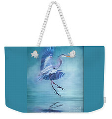 Misty Blue Weekender Tote Bag