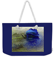 Weekender Tote Bag featuring the digital art Misty Blue by Terry Foster