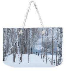 Misty Christmas Eve Woods Weekender Tote Bag