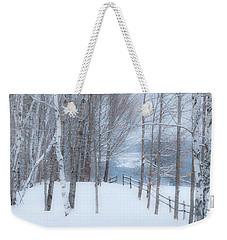 Misty Christmas Eve Woods Weekender Tote Bag