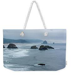 Misty Coastline Weekender Tote Bag