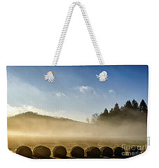 Weekender Tote Bag featuring the photograph Misty Country Morning by Thomas R Fletcher