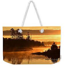 Misty Dawn At Gabbro Lake Weekender Tote Bag