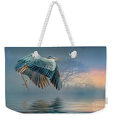 Misty Dawn Heron Weekender Tote Bag