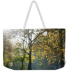 Misty Fall Day At Hyde Park Weekender Tote Bag by Haleh Mahbod