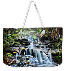 Weekender Tote Bag featuring the photograph Misty Falls by Az Jackson