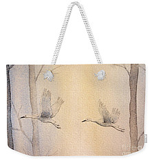 Misty Flight Weekender Tote Bag