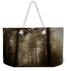Weekender Tote Bag featuring the photograph Misty Forest Morning by Broderick Delaney