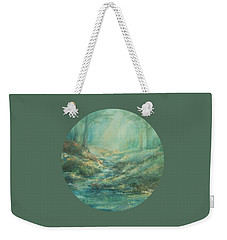 The Misty Forest Stream Weekender Tote Bag by Mary Wolf