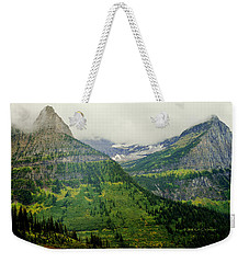 Misty Glacier National Park View Weekender Tote Bag