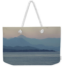 Misty Hills On The Strait Weekender Tote Bag