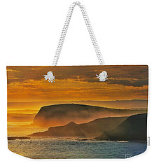 Weekender Tote Bag featuring the photograph Misty Island Sunset by Blair Stuart