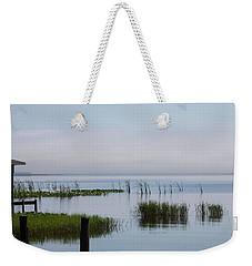 Misty Lake Weekender Tote Bag