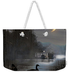 Misty Moonlight Weekender Tote Bag