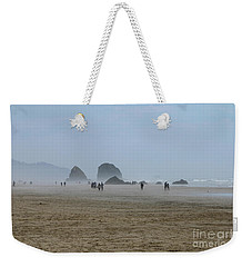 Misty Morning At Cannon Beach Weekender Tote Bag
