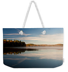 Weekender Tote Bag featuring the photograph Misty Morning by Brent L Ander