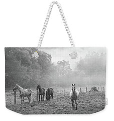 Misty Morning Horses Weekender Tote Bag