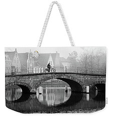 Weekender Tote Bag featuring the photograph Misty Morning In Bruges  by Barry O Carroll