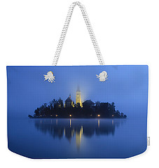 Misty Morning Lake Bled Slovenia Weekender Tote Bag