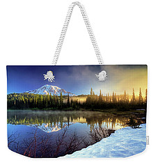 Misty Morning Lake Weekender Tote Bag by William Lee