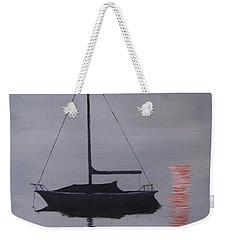 Misty Morning Mooring Weekender Tote Bag
