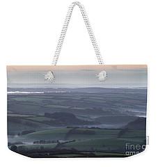 Misty Morning On Exmoor  Weekender Tote Bag