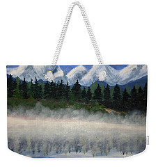Misty Morning On The Mountain Weekender Tote Bag