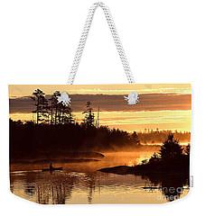 Misty Morning Paddle Weekender Tote Bag