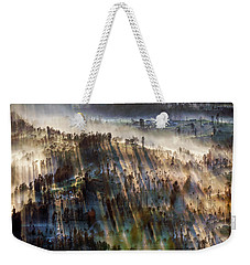 Weekender Tote Bag featuring the photograph Misty Morning by Pradeep Raja Prints