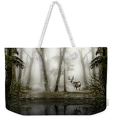 Misty Morning Reflections Weekender Tote Bag by Diane Schuster