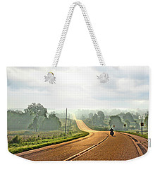 Misty Morning Ride Arkansas Weekender Tote Bag