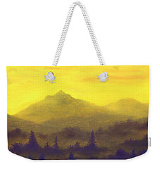 Misty Mountain Gold 01 Weekender Tote Bag