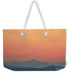 Misty Mountains Weekender Tote Bag by Angela J Wright