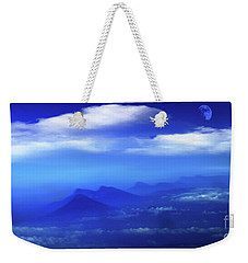 Misty Mountains Of San Salvador Panorama Weekender Tote Bag by Al Bourassa