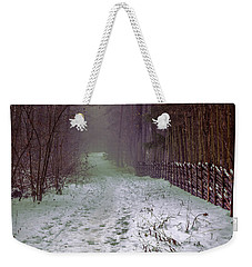 Misty Path #e5 Weekender Tote Bag by Leif Sohlman