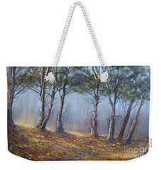 Misty Pines Weekender Tote Bag by Valerie Travers