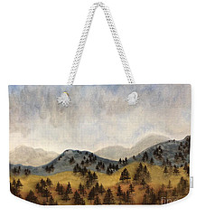 Misty Rain On The Mountain Weekender Tote Bag