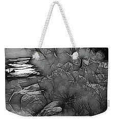 Weekender Tote Bag featuring the photograph Misty River by Elaine Teague