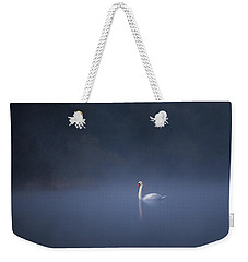 Misty River Swan Weekender Tote Bag