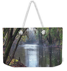 Misty River Weekender Tote Bag by Tim Fitzharris