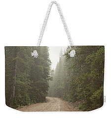 Weekender Tote Bag featuring the photograph Misty Road by James BO Insogna