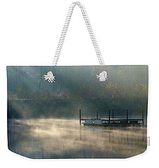Weekender Tote Bag featuring the photograph Misty Sunrise by George Randy Bass