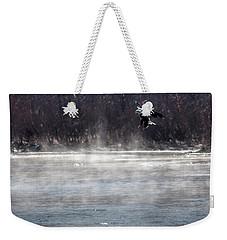 Misty Water Eagle Weekender Tote Bag
