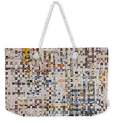 Weekender Tote Bag featuring the mixed media Mix by Jan Bickerton