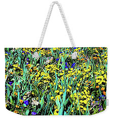 Weekender Tote Bag featuring the photograph Mixed Flower Garden 515 by D Davila