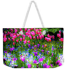 Weekender Tote Bag featuring the photograph Mixed Flowers And Tulips by D Davila