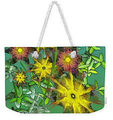 Mixed Flowers Weekender Tote Bag