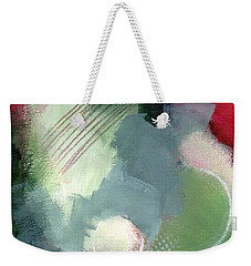 Weekender Tote Bag featuring the mixed media Mixed Media Abstract 3617 by Patricia Cleasby