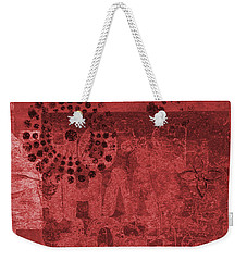 Weekender Tote Bag featuring the mixed media Mixed Media Letters  by Patricia Cleasby
